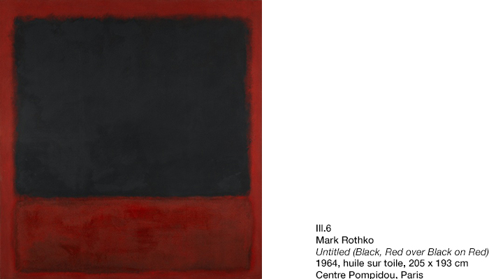 Rothko, Untilted, Black, Red over Black on Red