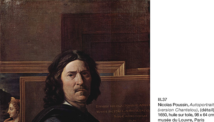 Poussin, Autoportrait 1650 (version Chantelou), détail